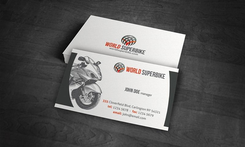 Mẫu card visit của hãng moto