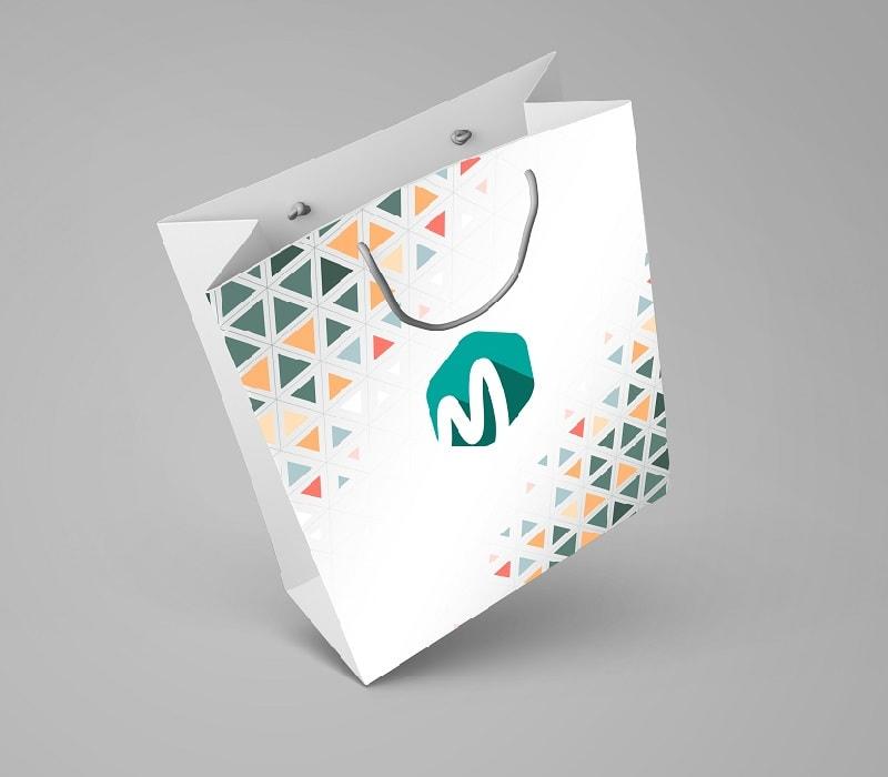 mẫu túi giấy có quai đẹp của công ty công nghệ