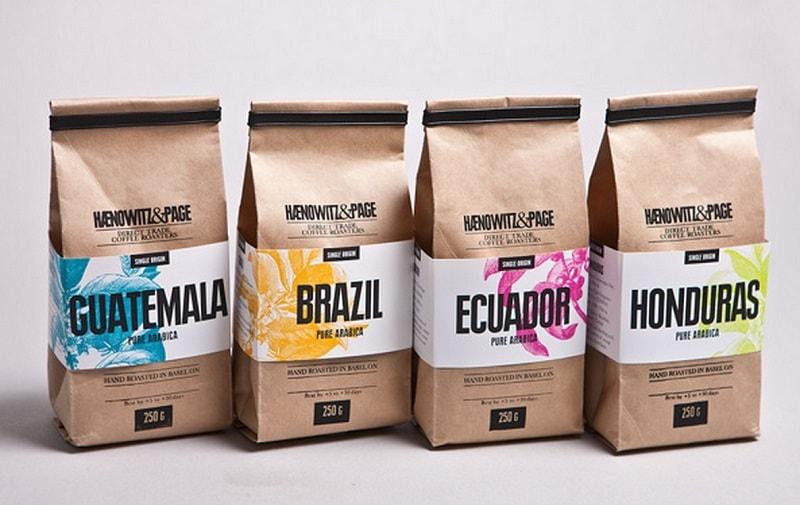 mẫu túi giấy đựng các loại cà phê