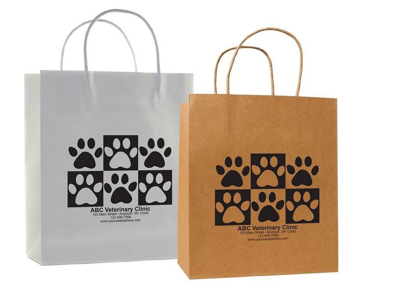 mẫu túi giấy hình dấu chân động vật