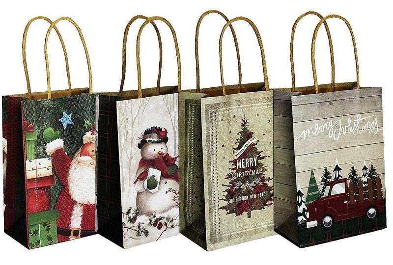 mẫu túi giấy mừng Giáng sinh đẹp