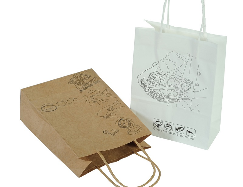 mẫu túi giấy đựng thực phẩm in hình quy trình