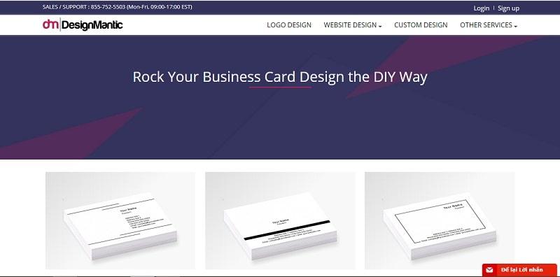 công cụ thiết kế name card online design