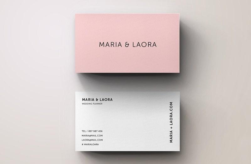 Mẫu name card phong cách hồng