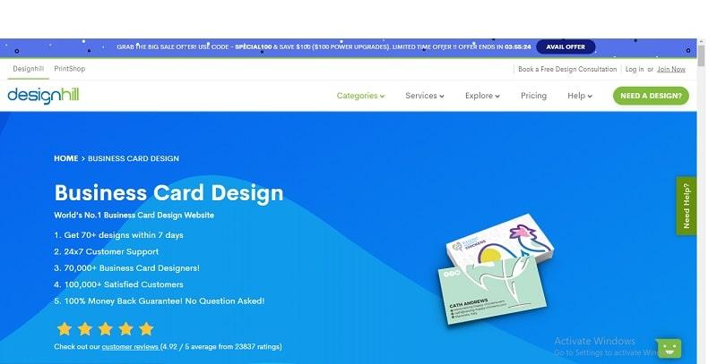 công cụ thiết kế name card online designill