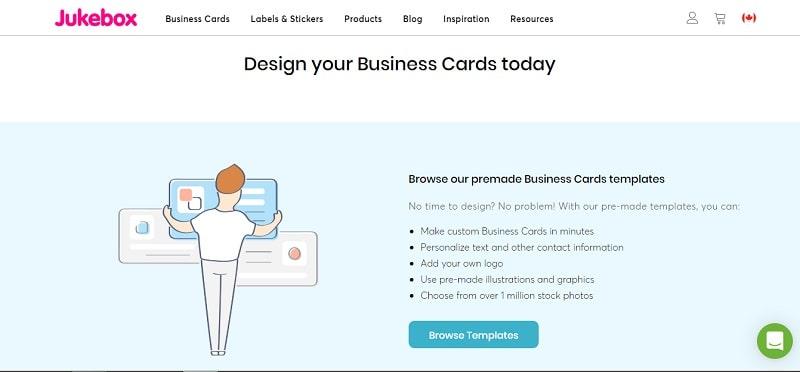 công cụ thiết kế name card online jukebox
