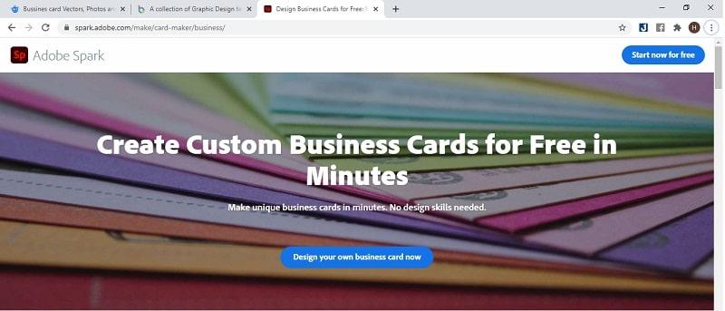 công cụ thiết kế name card online adobe