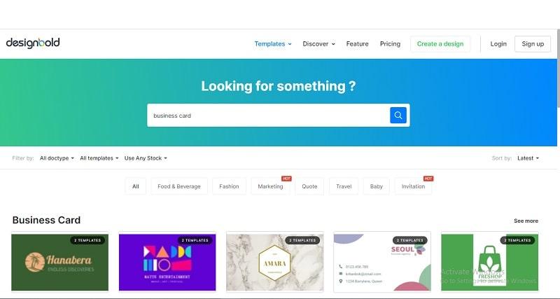 công cụ thiết kế name card online designblod