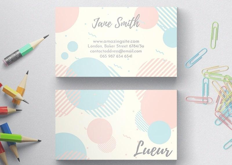 Mẫu name card phong cách dịu dàng và nhẹ nhàng