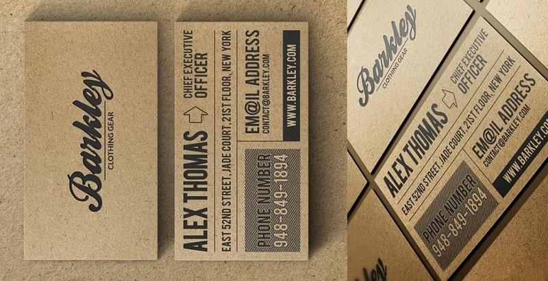 Mẹo thiết kế name card hiệu quả chất liệu