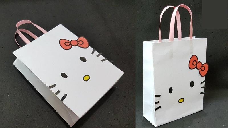 ấn phẩm túi giấy hoạt hình cho trẻ em