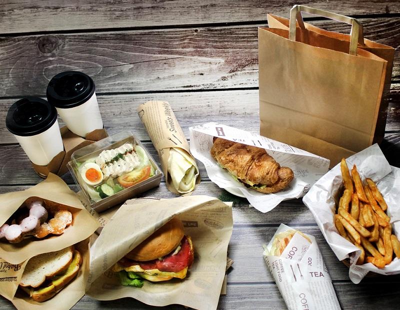 mẫu túi giấy đựng thức ăn nhanh chống thấm dầu
